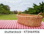 empty wicker basket on the... | Shutterstock . vector #473464906