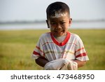 cute little boy have white... | Shutterstock . vector #473468950