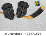 Swedish Hockey Puck  Stick And...