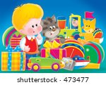 little boy with gifts | Shutterstock . vector #473477