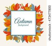 autumn leaves fall on border... | Shutterstock .eps vector #473477800