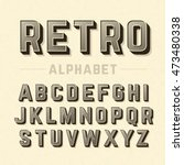 retro style alphabet | Shutterstock .eps vector #473480338