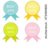 best price button set | Shutterstock . vector #473484883