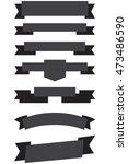 old ribbon banner black | Shutterstock .eps vector #473486590
