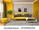 interior with sofa. 3d... | Shutterstock . vector #473490250