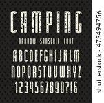 narrow sanserif font with... | Shutterstock .eps vector #473494756