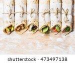 Tortilla Wraps With Various...