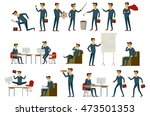 set illustration of businessman ... | Shutterstock . vector #473501353
