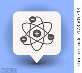 pictograph of atom   Shutterstock .eps vector #473509714