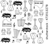 doodle of musical instrument... | Shutterstock .eps vector #473513278
