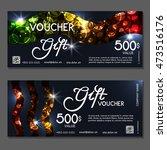 gift voucher. vector ... | Shutterstock .eps vector #473516176