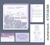 wedding invitation with white... | Shutterstock .eps vector #473518288