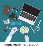 vector image of scientist... | Shutterstock .eps vector #473519914