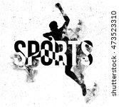 sports typographic background... | Shutterstock .eps vector #473523310