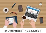 vector image of business plan | Shutterstock .eps vector #473523514