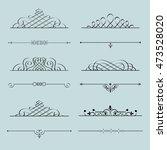 stylish calligraphic elements... | Shutterstock . vector #473528020