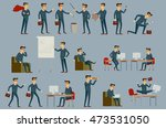 young cartoon businessman in... | Shutterstock . vector #473531050