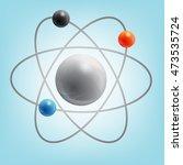 visualization atom   Shutterstock . vector #473535724
