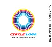 simple modern circle logo... | Shutterstock .eps vector #473538490