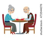 grandfather and grandmother... | Shutterstock . vector #473544070