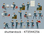 young cartoon businessman in... | Shutterstock . vector #473544256