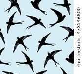swallow pattern   vector... | Shutterstock .eps vector #473546800