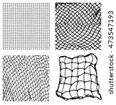 net pattern. rope net vector... | Shutterstock .eps vector #473547193