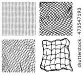 net pattern. rope net vector... | Shutterstock .eps vector #473547193