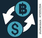 dollar baht exchange icon.... | Shutterstock .eps vector #473551504