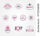 new year 2017 badges logos | Shutterstock .eps vector #473556808