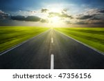 road in motion with clouds | Shutterstock . vector #47356156
