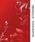 mystic floral background | Shutterstock . vector #47356480