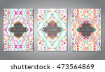vector set of geometric... | Shutterstock .eps vector #473564869