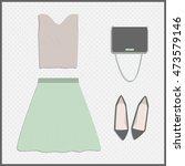 clothing set. vector... | Shutterstock .eps vector #473579146