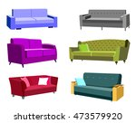 set of beautiful sofas | Shutterstock .eps vector #473579920