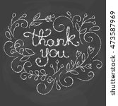 thank you card. chalk quote. | Shutterstock .eps vector #473587969