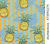 vector seamless pattern with... | Shutterstock .eps vector #473592274