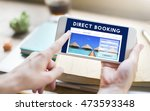 holiday reservation website... | Shutterstock . vector #473593348
