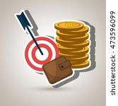 target money cash vector... | Shutterstock .eps vector #473596099