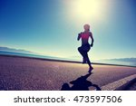 young fitness woman runner... | Shutterstock . vector #473597506