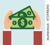 money bills dollar tax vector... | Shutterstock .eps vector #473598343