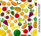 pattern of sweet fruits with... | Shutterstock .eps vector #473599039