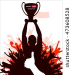 champions cup. poster  | Shutterstock .eps vector #473608528