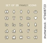 set of solid family icons.... | Shutterstock .eps vector #473608723