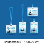 id card woman blue | Shutterstock .eps vector #473609194