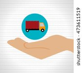 hand shipping cargo attention...   Shutterstock .eps vector #473611519