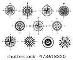 vintage nautical or marine wind ...   Shutterstock . vector #473618320