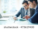 businessmen with computer | Shutterstock . vector #473619430