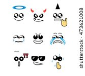 icons faces | Shutterstock .eps vector #473621008
