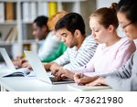 students studying   Shutterstock . vector #473621980